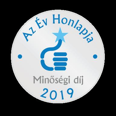 Az év honlapja 2019 - minőség díj